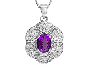 Purple Uruguayan Amethyst Sterling Silver Pendant With Chain 2.19ctw
