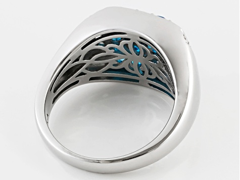Neon Apatite Sterling Silver Ring 1.25ctw