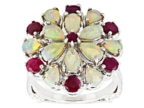 Ethiopian Opal Sterling Silver Ring 2.21ctw
