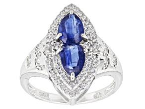 Blue Kyanite Sterling Silver Ring 2.03ctw