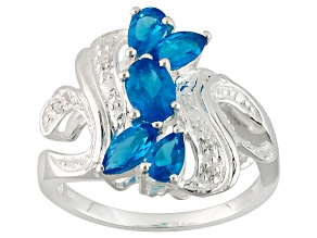 Blue Apatite Sterling Silver Ring 1.07ctw