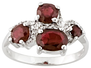Mahaleo Ruby Sterling Silver Ring 2.08ctw