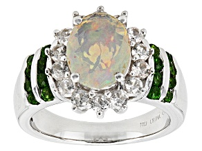 Ethiopian Opal Sterling Silver Ring 1.92ctw