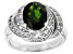 Green Chrome Diopside Sterling Silver Ring 2.83ctw
