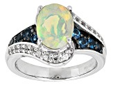 Ethiopian Opal Sterling Silver Ring 1.50ctw