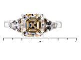 White Strontium Titanite And White Zircon Sterling Silver Ring 3.76ctw
