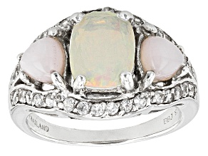 Ethiopian Opal Sterling Silver Ring 1.54ctw