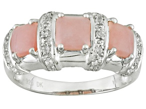 Pink Peruvian Opal Sterling Silver Ring .22ctw
