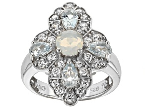 Ethiopian Opal Sterling Silver Ring 1.60ctw