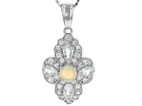 Ethiopian Opal Sterling Silver Pendant With Chain 1.60ctw