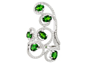 Green Chrome Diopside Sterling Silver Ring 3.58ctw