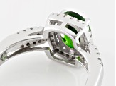 Green Chrome Diopside Sterling Silver Ring 1.38ctw