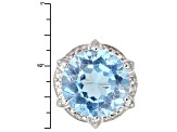 Sky Blue Topaz Sterling Silver Ring 9.74ctw