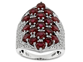 Mahaleo Ruby Sterling Silver Ring 9.08ctw