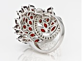 Red Garnet Sterling Silver Ring 8.94ctw