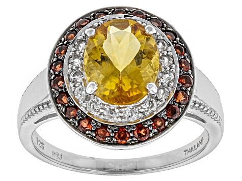 Yellow Brazilian Citrine Sterling Silver Ring 2.07ctw