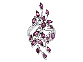 Purple Rhodolite Sterling Silver Ring 2.31ctw