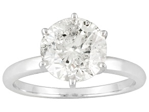 Diamond 3.00ct Round 14k White Gold Solitaire Ring