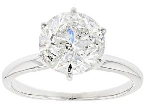 White Diamond 14k White Gold Solitaire Engagement Ring 3.00ct