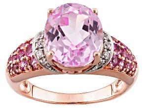 Pink Kunzite 10k Rose Gold Ring 4.98ctw