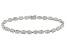 White Danburite 10k White Gold Bracelet 8.77ctw