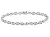 White Danburite 10k White Gold Bracelet 8.77ctw
