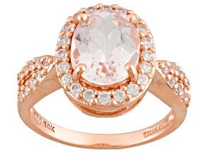 Pink Morganite 10k Rose Gold Ring 2.87ctw