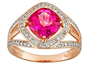 Pink Danburite 10k Rose Gold Ring 2.12ctw