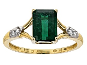 Green Apatite 10k Yellow Gold Ring 1.59ctw