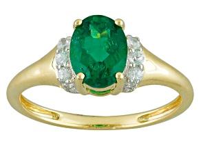Green Apatite 10k Yellow Gold Ring 1.22ctw