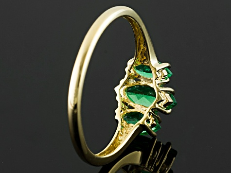 Green Apatite 10k Yellow Gold Ring .95ctw