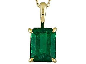 Green Emerald 10k Yellow Gold Ring 1.60ct