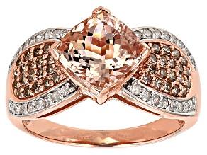 Pink Morganite 10k Rose Gold Ring 2.60ctw