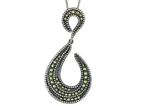 Marcasite Sterling Silver Pendant With Chain