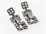 Metallic Marcasite Sterling Silver Earrings