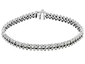 Metallic Marcasite Sterling Silver Bracelet.