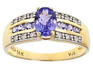 Picture of Blue Tanzanite 14k Yellow Gold Ring 1.05ctw