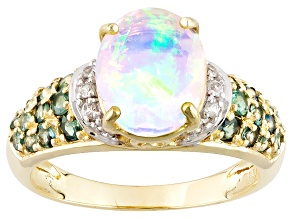Ethiopian Opal 10k Yellow Gold Ring 1.66ctw
