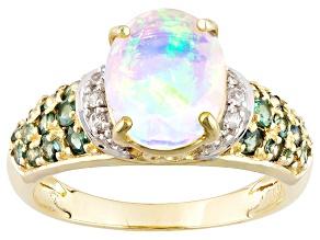 Ethiopian Opal 10k Yellow Gold Ring 1.66ctw