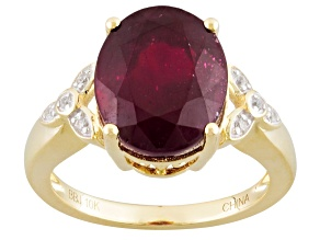 Mahaleo Ruby 10k Yellow Gold Ring 5.86ctw