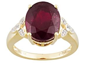 Mahaleo Ruby 10k Yellow Gold Ring 5.86ctw