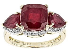 Mahaleo Ruby 10k Yellow Gold Ring 5.56ctw