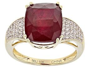 Mahaleo Ruby 10k Yellow Gold Ring 6.82ctw