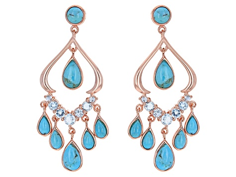 d88a6ad0b5a281 Turquoise copper dangle earrings 1.46ctw - TMW018 | JTV.com