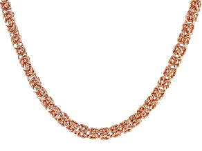 "28"" Copper Byzantine Chain Necklace"