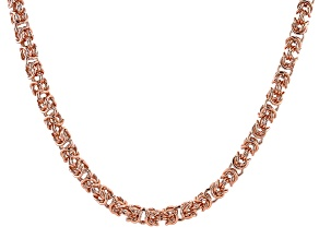 "30"" Copper Byzantine Chain Necklace"