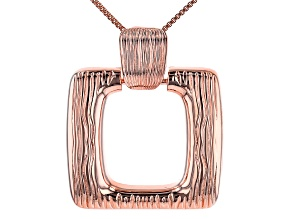 "Copper Textured Square Enhancer With 18"" Box Chain"