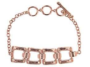 Copper Textured Square Bracelet