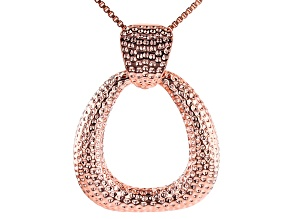 "Copper Textured Oval Enhancer With 18""  Box Chain"