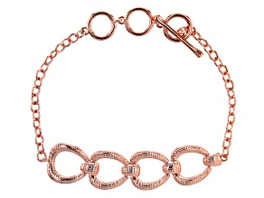 Copper Textured Oval Bracelet